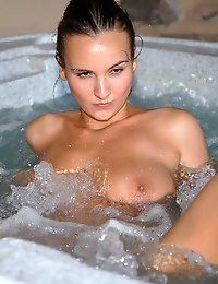 Bikini in hot tub